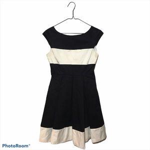 Kate Spade Fit & Flare Dress Black White Size 2A